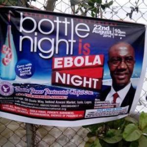 Nigerian Pastor Organises EBOLA Cure Crusade in Lagos..Lol see Photo.